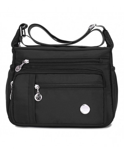 Shoulder Crossbody Messenger Waterproof Bag black