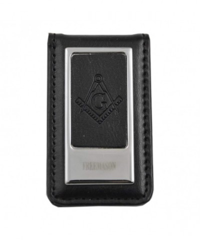 Masonic Leather Silver Square Compass