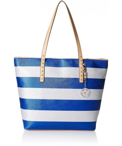 Bueno California Metallic Stripe Tote