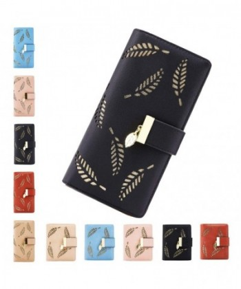 Womens Wallets Leather Bifold Portable