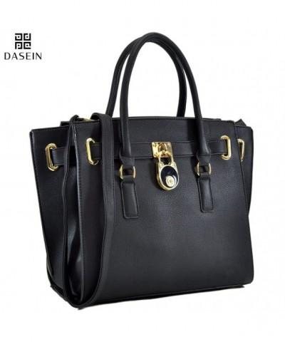 Dasein Designer Handbag Padlock Satchel