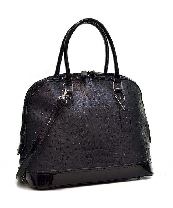 Ostrich Satchel Handbag Handle Shoulder