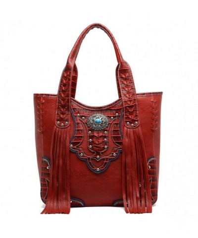 Western Handbag Embossed Concealed Shoulder
