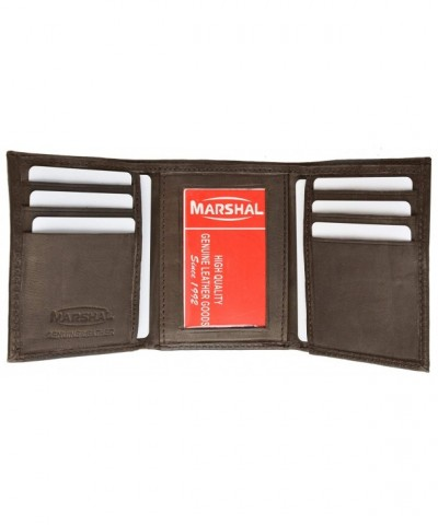 Genuine Leather Trifold Lambskin Marshal
