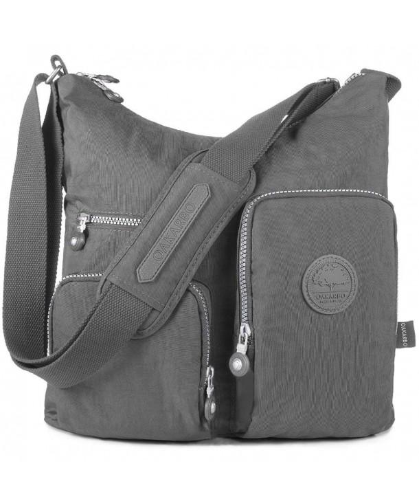 Oakarbo Nylon Multi Pocket Crossbody Bag