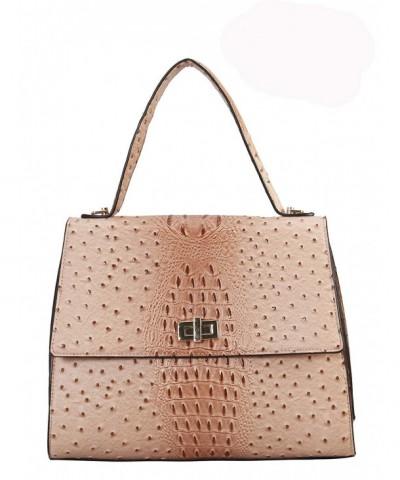 Diophy Leather Animal Handle Handbag