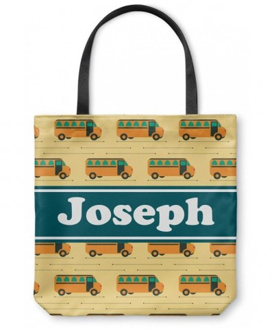 School Bus Canvas Tote Personalized
