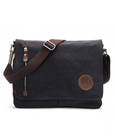 Vintage Messenger Shoulder Crossbody M36_Black