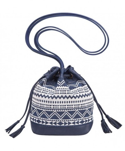 Womens Drawstring Bucket Crossbody leather x