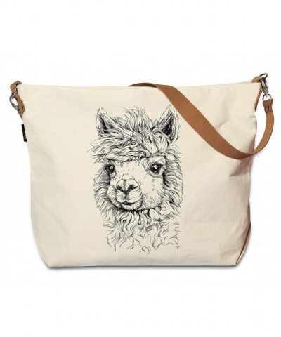 Alpaca Printed Canvas Leather WAS_29