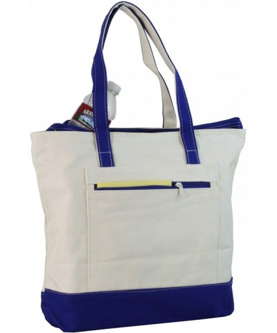 Ensign Peak Zipper Canvas Tote