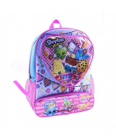Shopkins Backpack Front Pockets Multi Colored