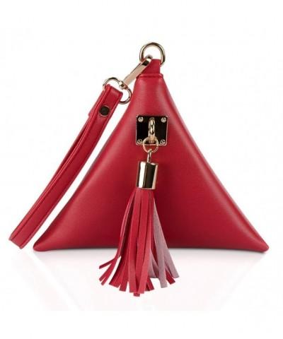 xhorizon Leather Triangle Wristlet Handbag