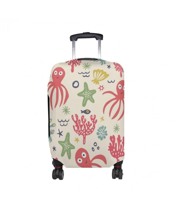 Octopus Starfish Seaweed Suitcase Protector