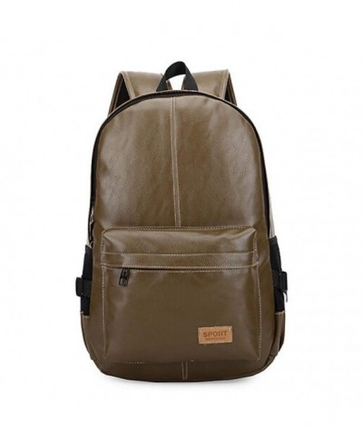 LYMBABE Classic Leather Backpack Traveling
