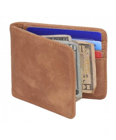 Bifold Wallet Vintage Leather Pocket