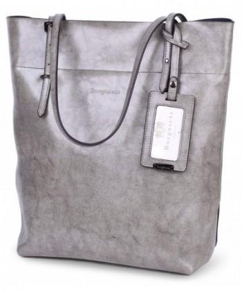 Borgasets Womens Leather Shoulder Handbags