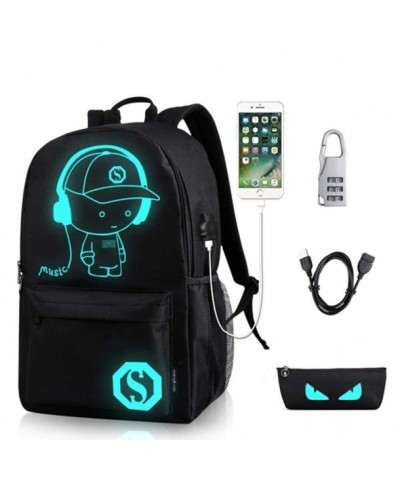 Waterproof Luminous Notebook Backpack Anti theft