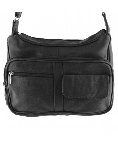 Leather Carrier 1003Black Crossbody Organizer