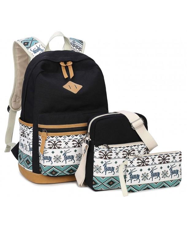 Backpack Gazigo Bookbags 8818 Black