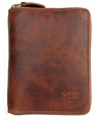 Natural Glazed Genuine Leather Wallet