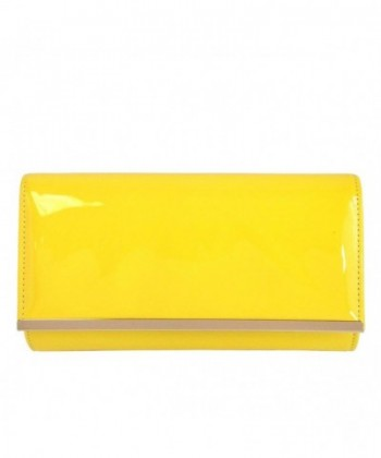 JNB Patent Leather Glossy Clutch