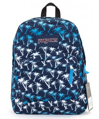 Jansport Superbreak Backpack blue palms