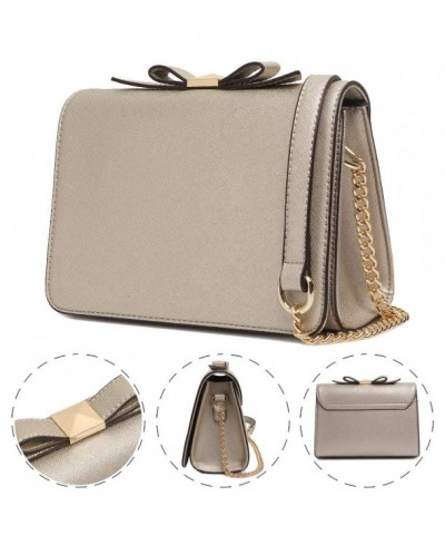 Crossbody Leather Bowknot Shoulder Handbags
