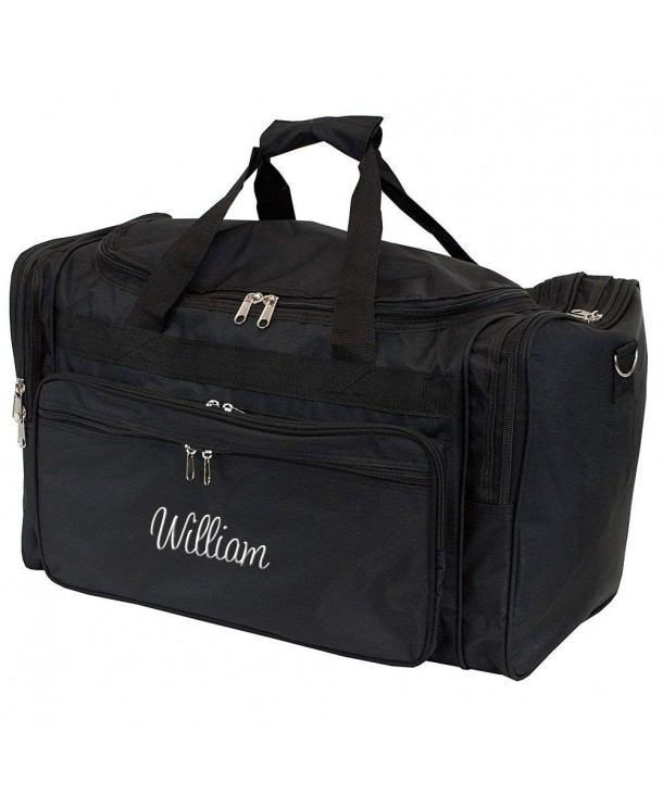 Personalized Large Black Overnight Duffle