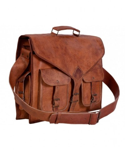 Stylish Leather Messenger Briefcase Satchel