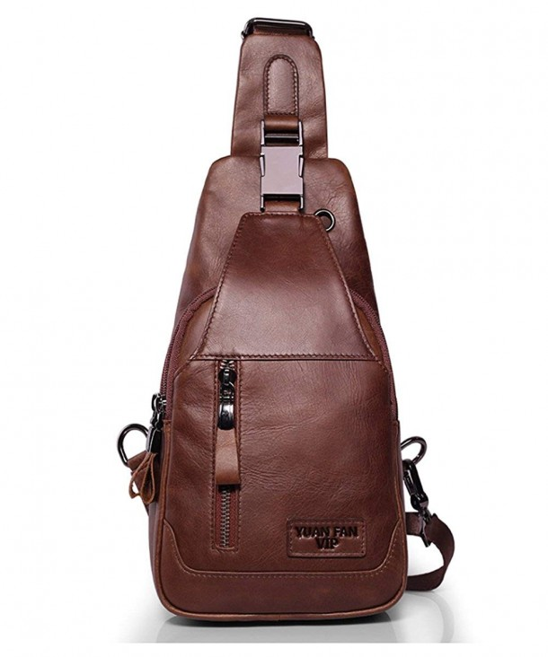 Leather Shoulder Backpack Headphone Outdoor
