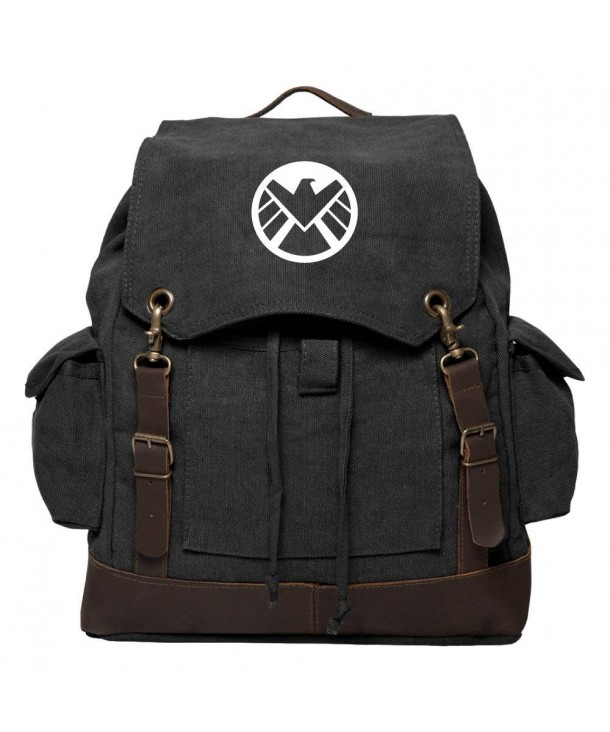 Agents Shield Rucksack Backpack Leather