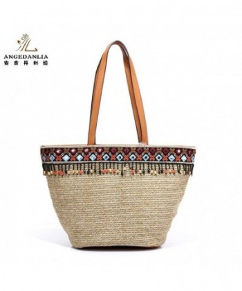Straw Bag Tote Angedanlia Handmade