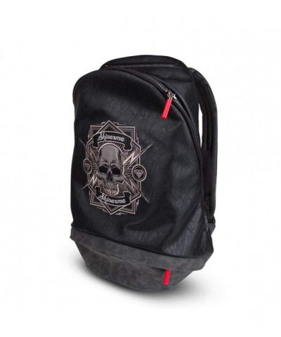 Leather Backpack Embroidery Waterproof Lightweight