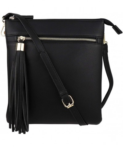 BRENTANO Double Zip Pocket Crossbody Handbag