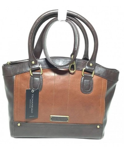 Tignanello Hide Satchel Brown T15008A