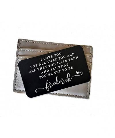 Engraved Aluminum Wallet Insert Engraving
