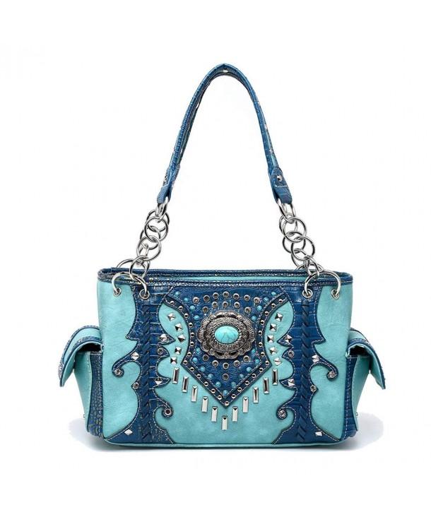 Western Handbag Turquoise Concealed Shoulder