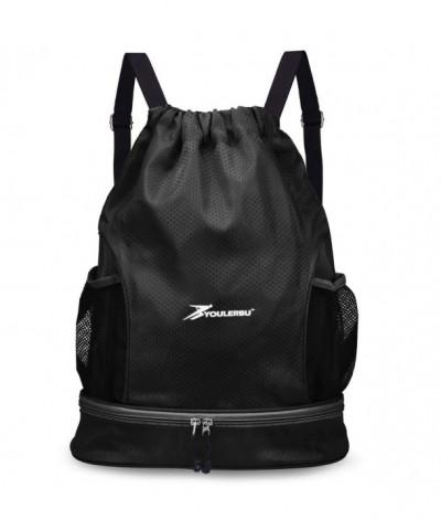 Youlerbu Drawstring Backpack Compartment Sackpack