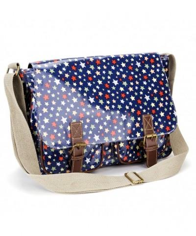 Anladia Oilcloth Satchel Messenger Handbag