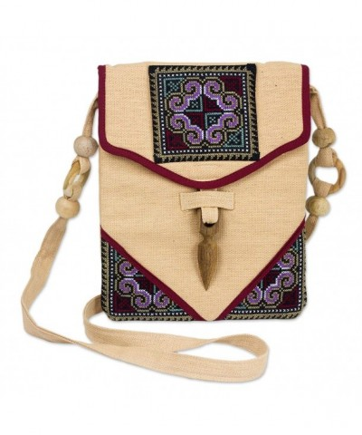 NOVICA Beige Hemp Shoulder Miracle