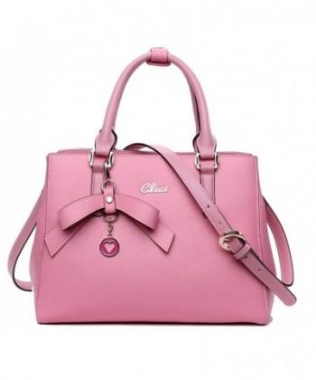 05306fca8406 Women Purse Genuine Leather Handbags Fashion Designer Tote Shoulder  Crossbody Bag for Ladies - 3-pink - CZ129GLBRX9