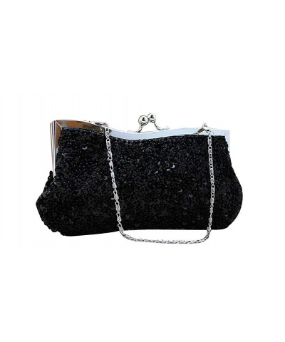 ILISHOP Sequined Baguette Handbags Detachable