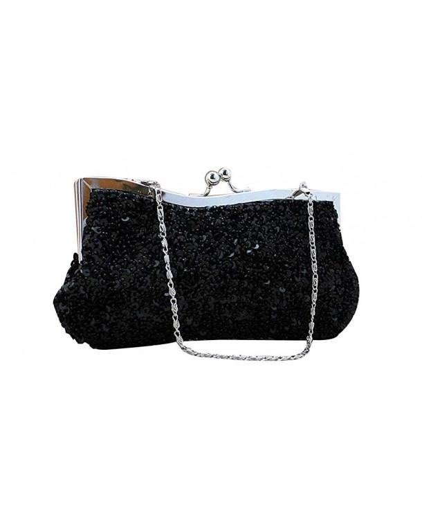 ILISHOP Sequined Baguette Handbags Detachable