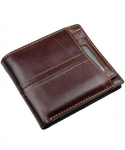 Leather Spacious Keychain Chocolate b1w005ch