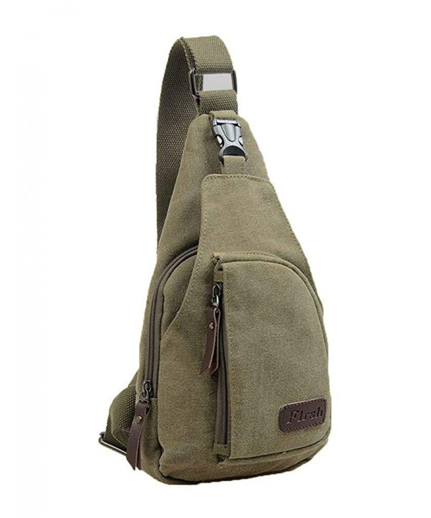 505f81e8bd9a Mens Canvas Chest Pack Crossbody Sports Bag Satchel Shoulder Bag ...