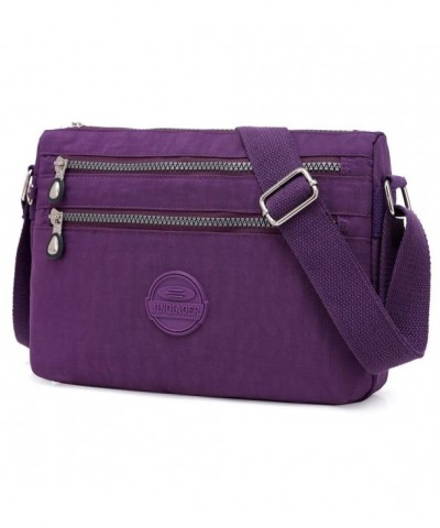 STUOYE Crossbody Shoulder Pockets Purple