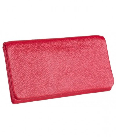Womens Genuine Leather Tri Fold Wallet