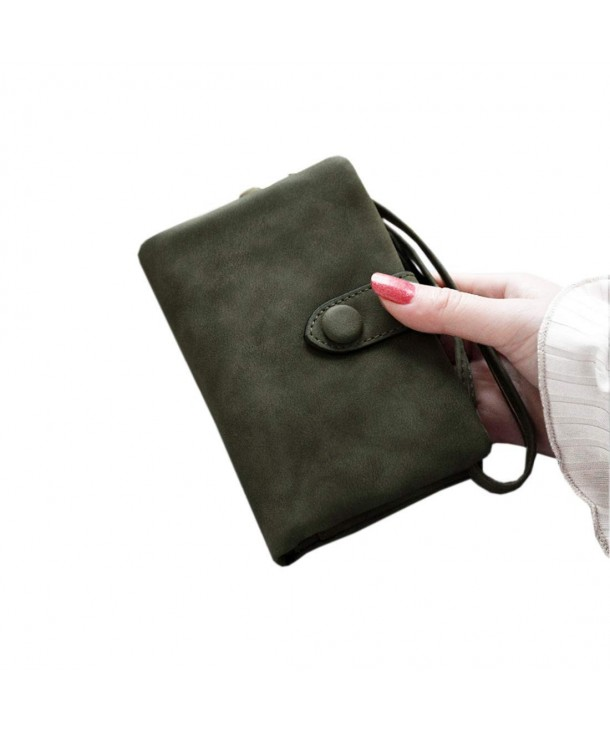 Womens Bifold Leather blocking Wristlet