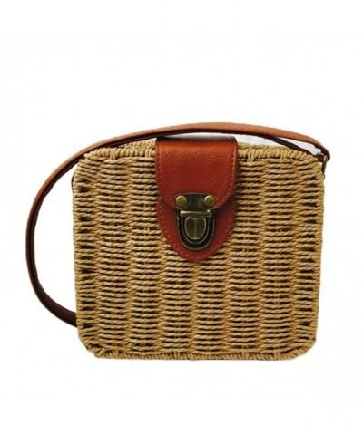 Straw Woven Bag Crossbody Messenger